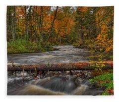Prairie River Tree Crossing Fleece Blanket