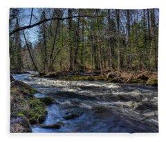 Prairie River White Riffles Fleece Blanket