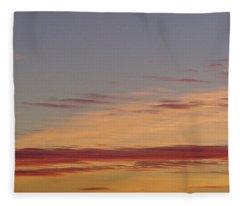 Prairie Sunset 2 Fleece Blanket