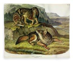 Prairie Wolf Fleece Blanket
