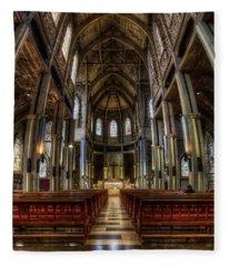 Cathedral In The Argentine Patagonia Fleece Blanket