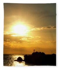 Prayer Before Dive Fleece Blanket