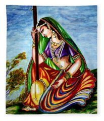 Krishna - Prayer Fleece Blanket