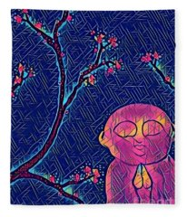 Praying Buddha Fleece Blanket