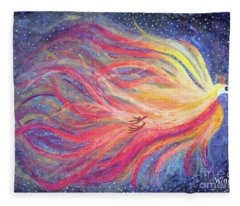 Pre-dawn Firebird Fleece Blanket