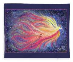 Pre-dawn Firebird Fleece Blanket