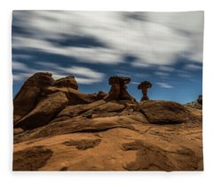 Prehistoric Formations Fleece Blanket