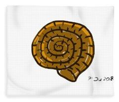 Prehistoric Shell Fleece Blanket