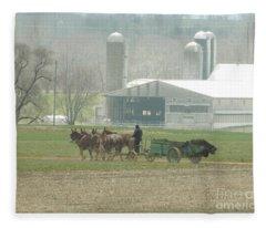 Preparing The Field-two Fleece Blanket