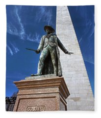 Prescott Statue On Bunker Hill Fleece Blanket