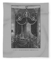 President Abraham Lincoln Lying In State Fleece Blanket