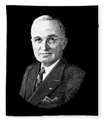 President Harry Truman Graphic Fleece Blanket