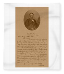 President Lincoln's Letter To Mrs. Bixby Fleece Blanket