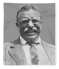 President Teddy Roosevelt Fleece Blanket