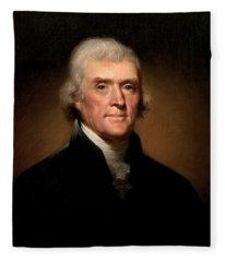 President Thomas Jefferson  Fleece Blanket
