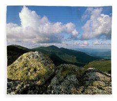 Presidential Range - White Mountains New Hampshire Fleece Blanket