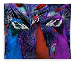 Pretty As A Peacock Fleece Blanket