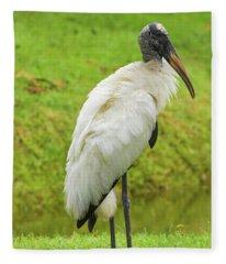 Pretty As A Stork Can Be Fleece Blanket
