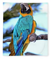 Pretty Parrot Fleece Blanket