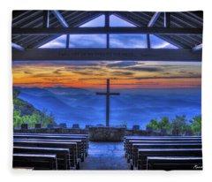 Pretty Place Chapel Sunrise 777  Fleece Blanket