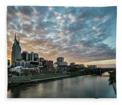 Pretty Sky And Nashville Skyline Fleece Blanket