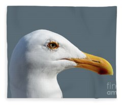 Pretty Western Gull In Profile Fleece Blanket