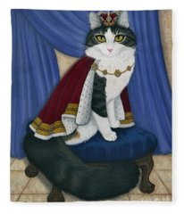 Prince Anakin The Two Legged Cat - Regal Royal Cat Fleece Blanket