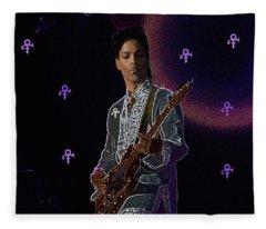 Prince At Coachella Fleece Blanket