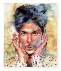 Prince Rogers Nelson Portrait Fleece Blanket