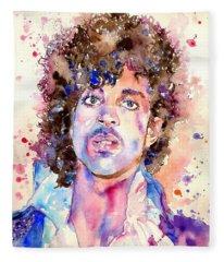 Prince Rogers Nelson Watercolor Fleece Blanket