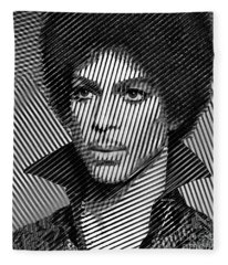 Fleece Blanket featuring the digital art Prince - Tribute In Black And White Sketch by Rafael Salazar