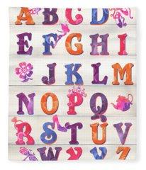 Princess Alphabet Fleece Blanket