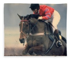 Princess Anne Riding Cnoc Na Cuille At Kempten Park Fleece Blanket