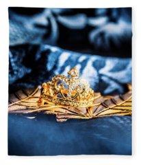 Princess Cut Diamond Ring Fleece Blanket