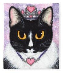 Princess Fiona -tuxedo Cat Fleece Blanket