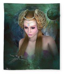 Princess Leia  Fleece Blanket