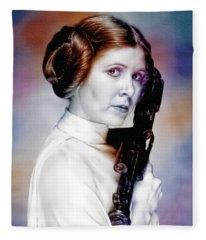 Princess Leia - Carrie Fisher Fleece Blanket
