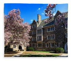 Princeton University Pyne Hall Courtyard Fleece Blanket