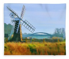 Priory Windmill Fleece Blanket