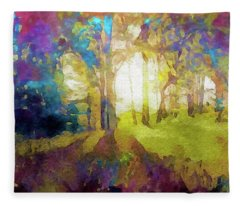 Prismatic Forest Fleece Blanket