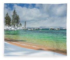 Pristine Shores By Brad Scott Fleece Blanket
