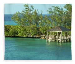 Pristine Waters In Nassau Bahamas Fleece Blanket