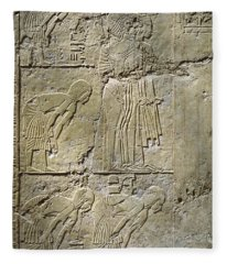Private Tombs -painting West Wall Tomb Of Ramose T55 - Stock Image - Fine Art Print - Thebes Fleece Blanket