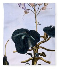 Proboscis Flower Fleece Blanket