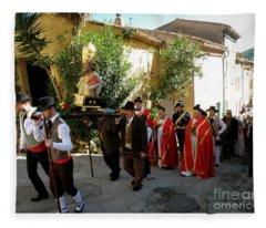 Procession Of Saint Clement Fleece Blanket