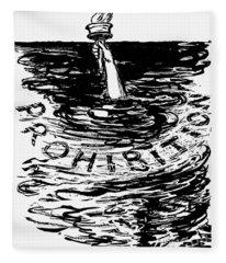 Prohibition Cartoon, 1920s - To License For Professional Use Visit Granger.com Fleece Blanket