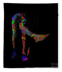 Projected Body Paint 2094973a Fleece Blanket