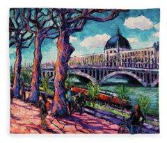 Promenade Along The Rhone Fleece Blanket