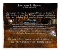 Prostitutes In Heaven Fleece Blanket