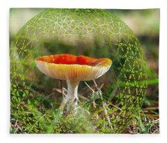 Protected Toadstool Fleece Blanket